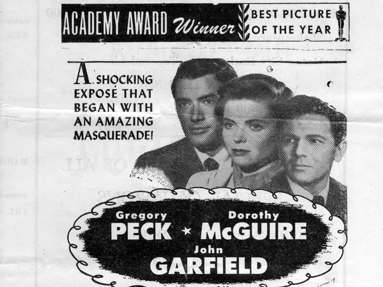A coming feature bill featuring Gregory Peck