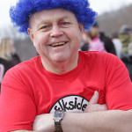 """Event organizer Rick Gathen dressed as """"Thing"""" from """"The Cat in the Hat."""""""