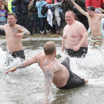 People from all over dared to take the plunge in frigid Lake Hopatcong for the annual Lake Hopatcong Elks Club Leap in the Lake fundraiser, Saturday, February 8.