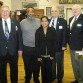 Standing in the middle of the photograph is Sharissa Lakhicharran with the officials of the American Legion District Oratorical Contest that was held recently at the American Legion Post 157 in Branchville, NJ. The contest officials from left to right are Herman Terpstra, George Dark, Peter Varsalona and Walter Kuntz.
