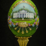 The 2014 commemorative Easter Egg by Linda Rossin and presented to Mrs. Michelle Obama recently.