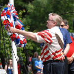 Vietnam veteran and councilman John Windish places a wreath on behalf of the mayor and council. Mount Arlington marks Memorial Day with a parade and ceremony at Memorial Park. Photo by Karen Mancinelli/For Lake Hopatcong News