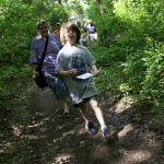 Tyler Karpman, 10, is the first hiker on the new Ice Age Trail.
