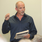 Brian DeVries speaking at the Lake Hopatcong Commission meeting, Monday.