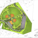 The site map for the Landing Road Recreation Complex.