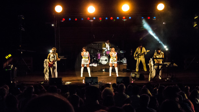ABBA Girlz performed at the Art Bonito Amphitheatre at Camp Jefferson Saturday night.