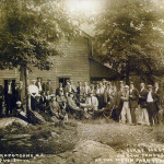First meeting of the Maxim Park Yacht Club in the old Henderson Hotel building on Cow Tongue Point, August 30, 1914.