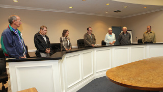 Members of the Lake Hopatcong Commission present at Monday's meeting.