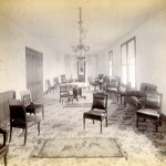 Th parlor of the Woodport House hotel, circa 1890.