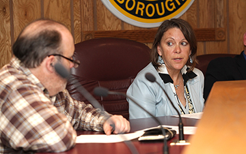 Commissioner Kerry Kirk Pflugh, DEP representative, at Monday's Lake Hopatcong Commission meeting.