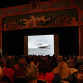 A packed house at The Palace Theater watches newsreel footage of a 1941 speedboat race on Lake Hopatcong.