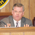 Chairman Russ Felter at Monday's Lake Hopatcong Commission meeting.