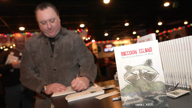 New author Timothy McBride at a book signing event at Gatwyn's.