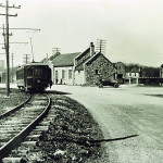 The Morris County Traction Company's trollies formerly passed right in front of the station on their way to Bertrand Island Park. Circa 1920img409-The new Lake Hopatcong Railroad Station upon its opening in 1911.  The Morris Canal can be seen to the left.