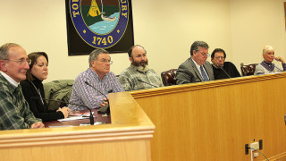 The Lake Hopatcong Commission board members at the March meeting.