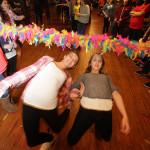 Leah Demko, 11 and Tayler Soules, 11, during the Limbo competition.