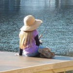 Annie loves to fish off my dock. By Mary Lou Brinkofski